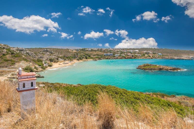 Praia de Kalathas, ilha da Creta, Grécia imagens de stock
