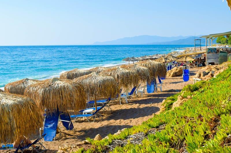 A praia de Kalo Nero imagem de stock