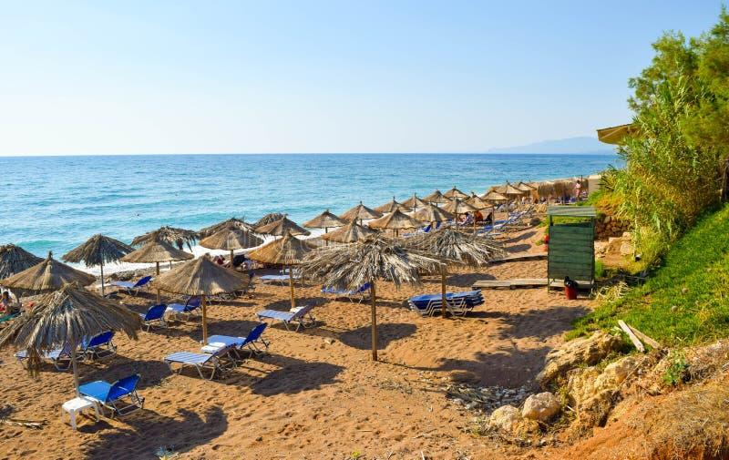 A praia de Kalo Nero fotos de stock