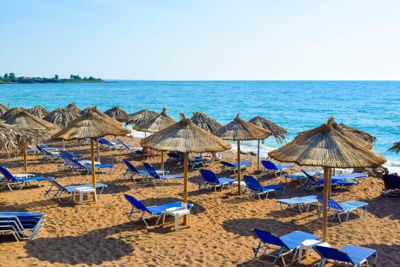 A praia de Kalo Nero imagem de stock royalty free