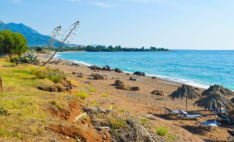 A praia de Kalo Nero imagens de stock