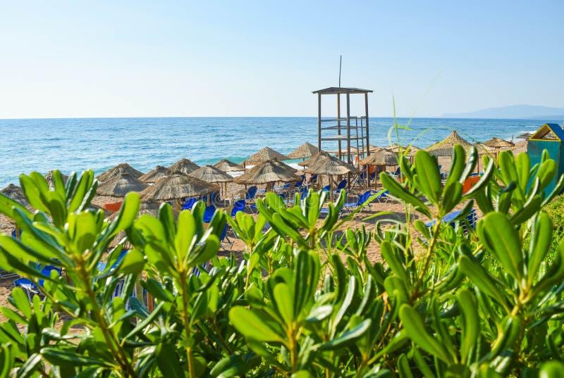 A praia de Kalo Nero fotos de stock royalty free