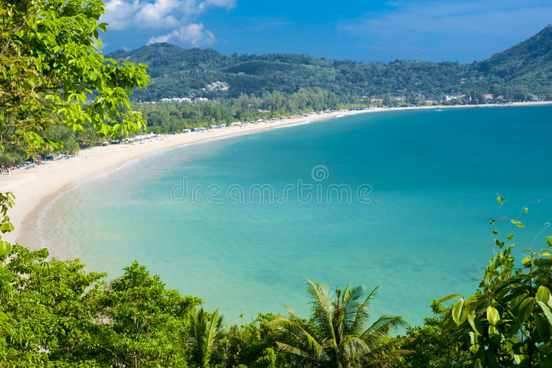 Praia de Kamala foto de stock