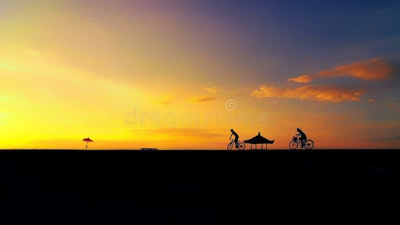 Praia de Karang, Sanur Bali Indonésia fotografia de stock