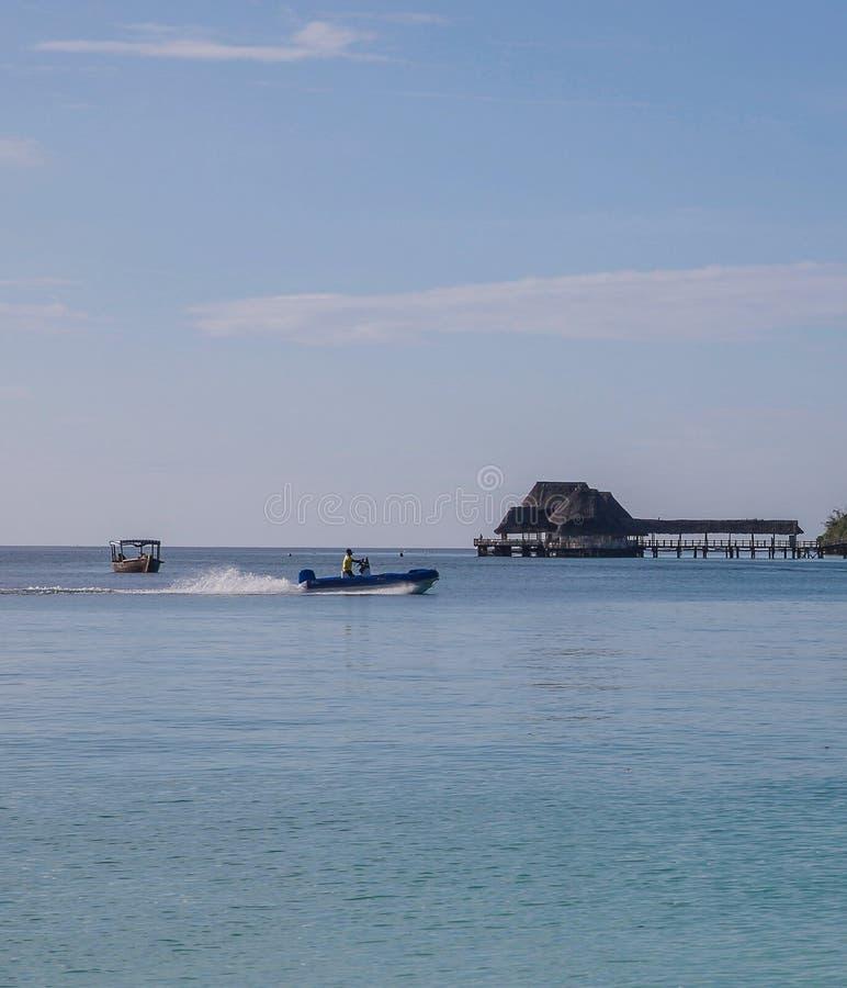 Praia de Kendwa de Zanzibar foto de stock