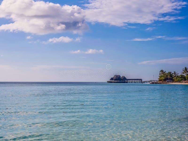 Praia de Kendwa de Zanzibar fotos de stock