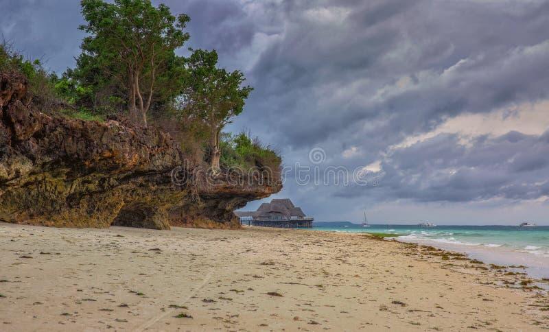 Praia de Kendwa de Zanzibar imagens de stock royalty free