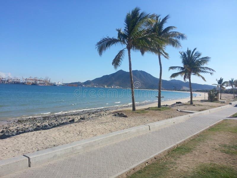 Praia de Khorfakkan fotografia de stock