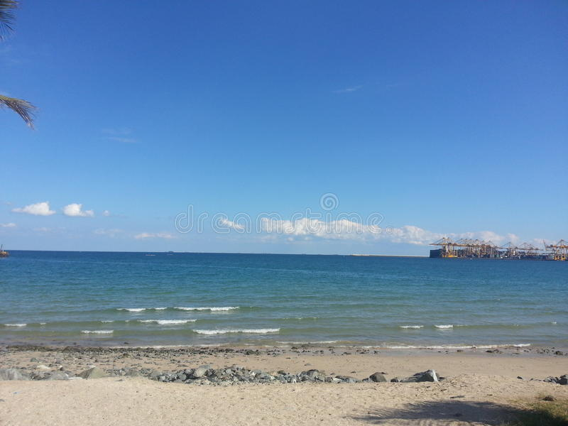 Praia de Khorfakkan imagens de stock