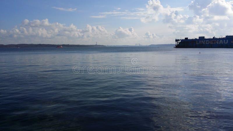 Praia de Kiel imagens de stock