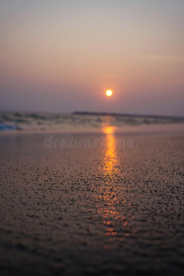 Praia de Kollam imagem de stock royalty free