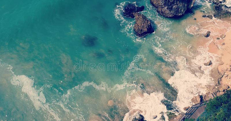 Praia de Kubu imagens de stock