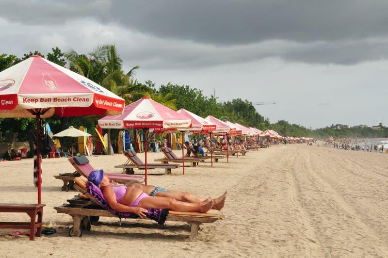 Praia de Kuta, Bali imagem de stock