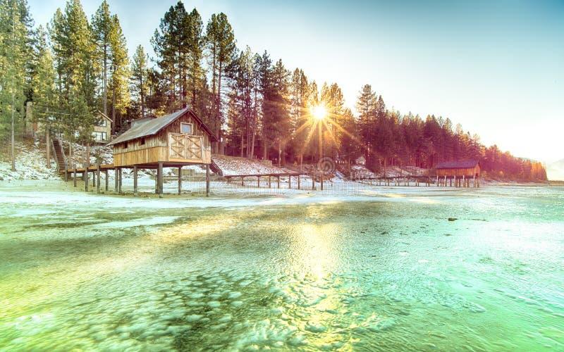 Praia de Lake Tahoe imagem de stock