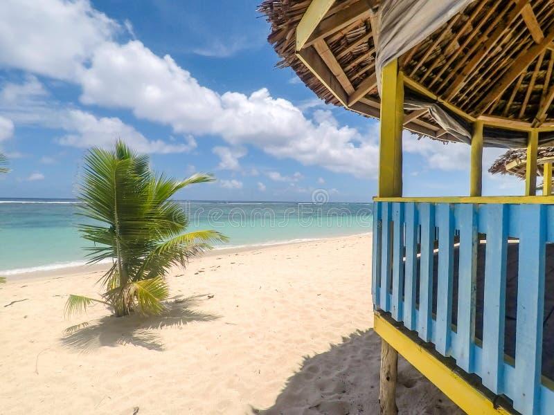 Praia de Lalomanu, ilha de Upolu, Samoa - 27 de outubro de 2017: Traditio fotos de stock royalty free