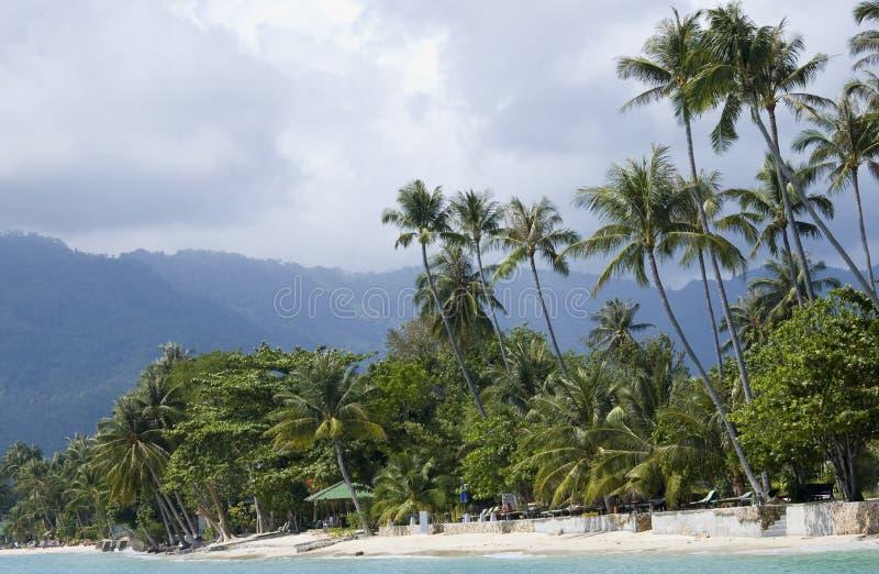 Praia de Lamai fotos de stock royalty free