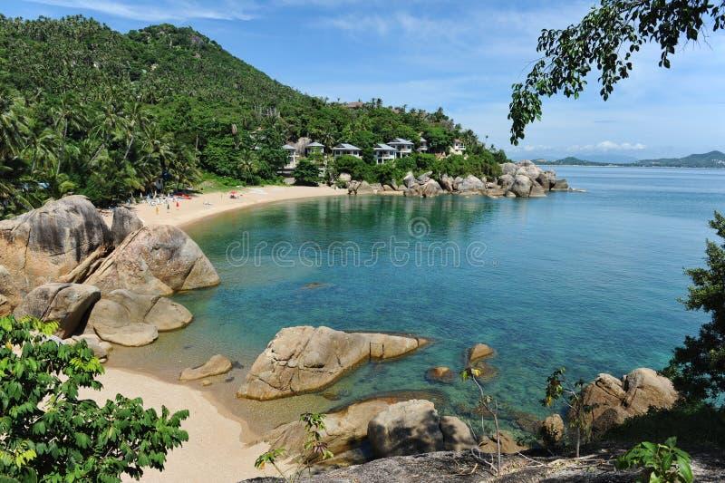 Praia de Lamai, console de Samui fotografia de stock