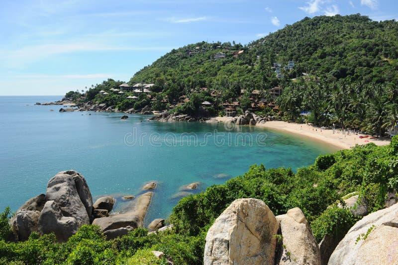 Praia de Lamai, console de Samui, Tailândia imagens de stock