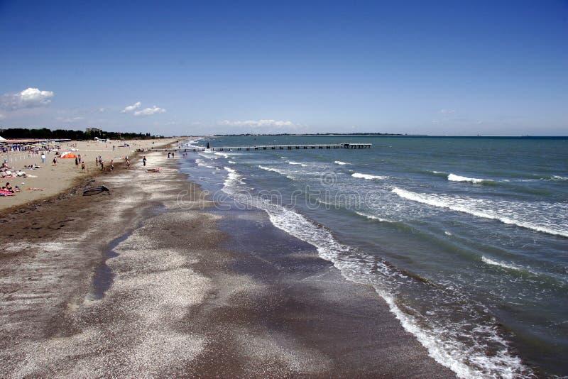 Praia de Lido ao norte fotografia de stock royalty free