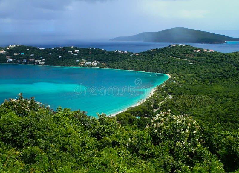 Praia de Magens na ilha de Virgin de St Thomas E.U. imagem de stock royalty free