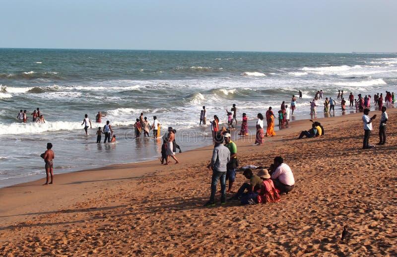Praia de Mahabalipuram fotos de stock
