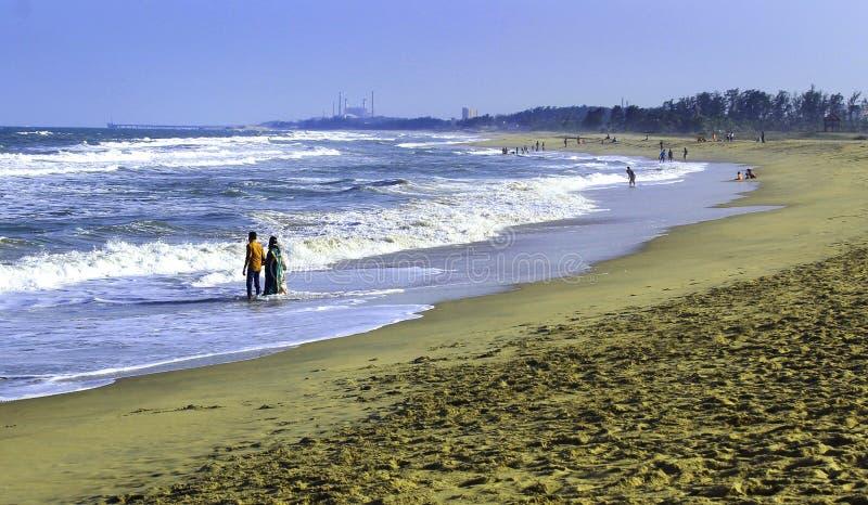 Praia de Mahabalipuram fotografia de stock