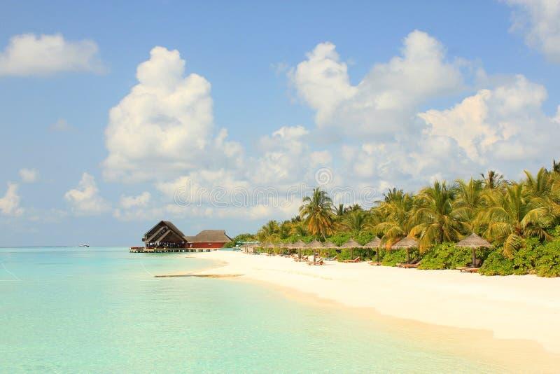 Praia de Maldivas imagem de stock
