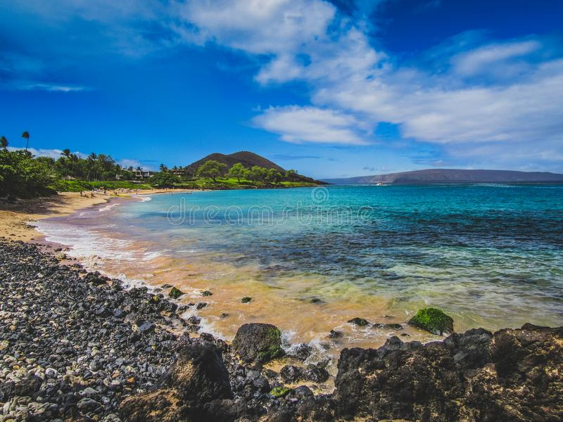 Praia de Maluaka fotos de stock