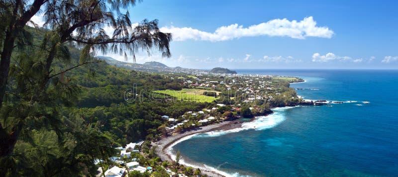 Praia de Manapany - Reunion Island. fotografia de stock royalty free