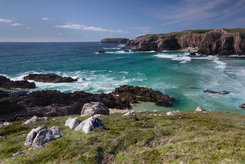Praia de Mangersta em Lewis imagens de stock royalty free