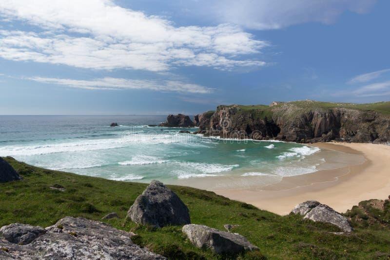 Praia de Mangurstadh em Lewis imagem de stock royalty free