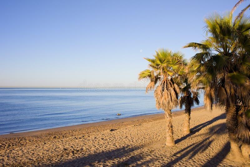 Praia de Marbella em Costa del Sol em Spain imagem de stock royalty free