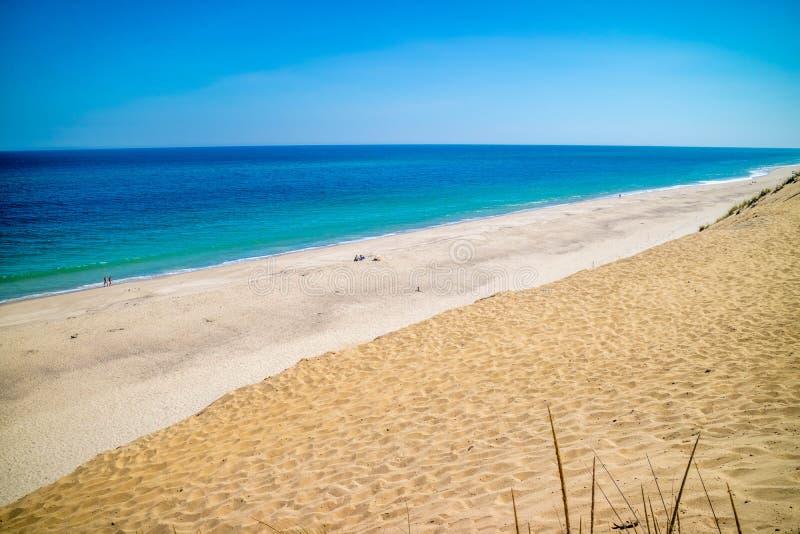 A praia de Marconi no litoral nacional de Cape Cod, Massachusetts fotografia de stock royalty free