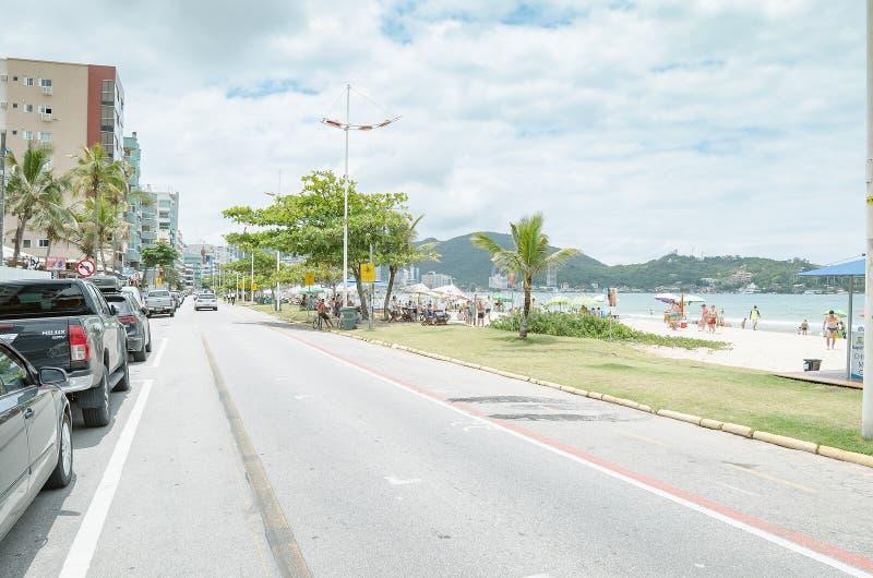 Praia de Meia, SC de Itapema, el Brasil fotos de archivo libres de regalías