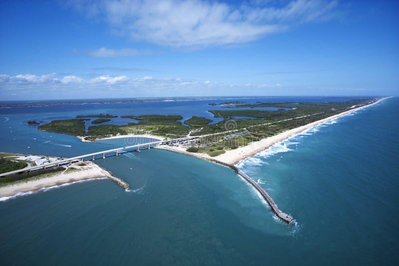 Praia de Melbourne, Flordia. fotografia de stock royalty free