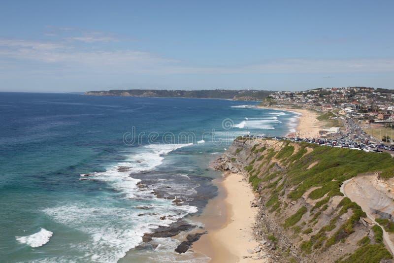 Praia de Merewether - Necastle imagens de stock royalty free