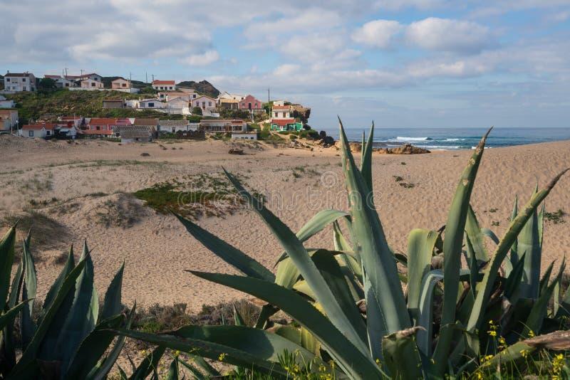 Praia de Monte Clerigo beach in Costa Vicentina, Portugal. Praia de Monte Clerigo beach in Costa Vicentina, in Portugal royalty free stock image