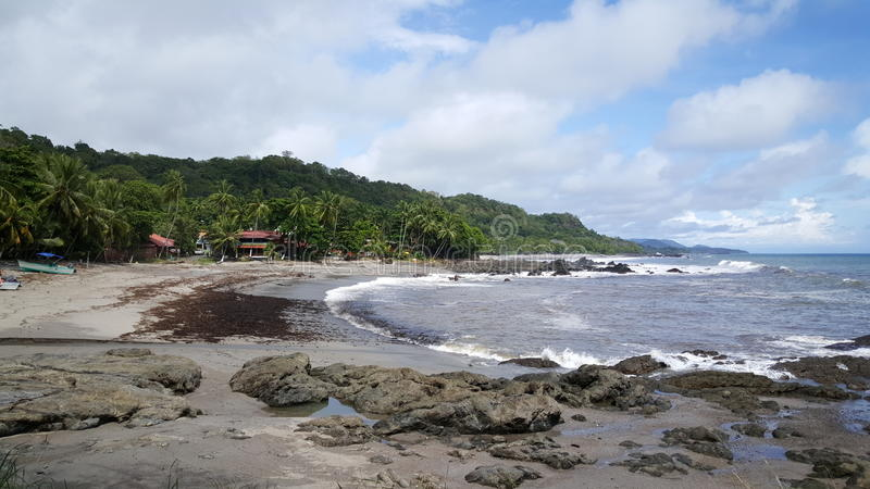 Praia de Montezuma fotografia de stock royalty free