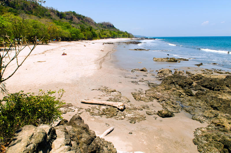 Praia de Montezuma & x28; Costa Rica & x29; foto de stock royalty free