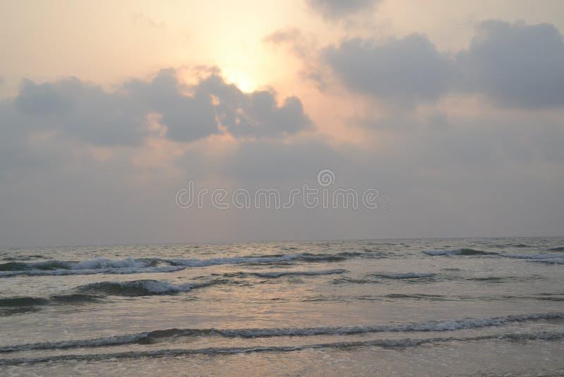 Praia de Murudeshwar fotografia de stock