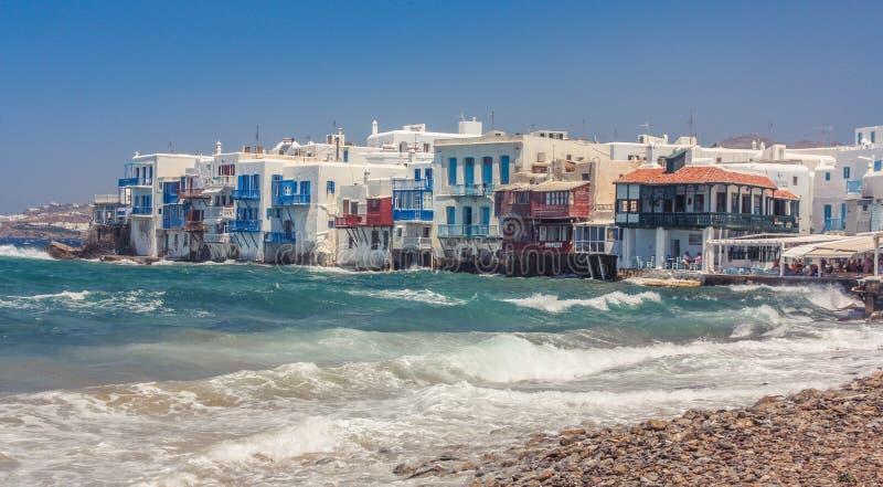 Praia de Mykonos foto de stock royalty free