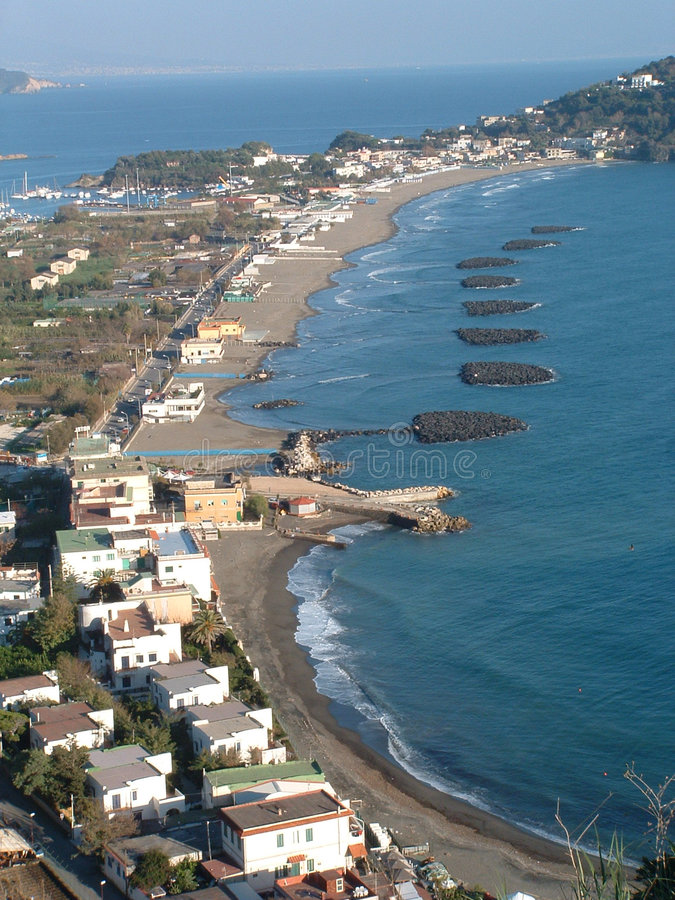 Praia de Nápoles fotografia de stock