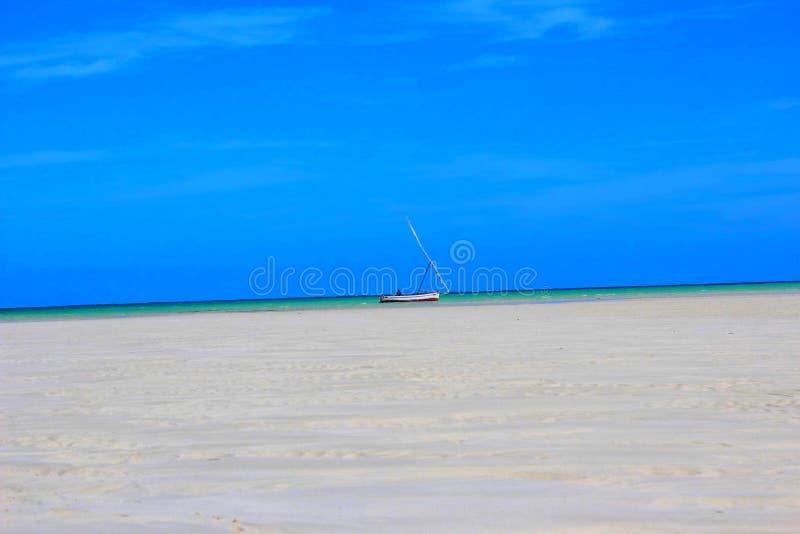 Praia de Nampula imagem de stock