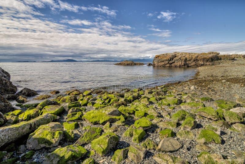 Praia de Nanaimo foto de stock