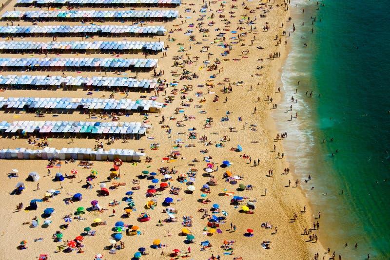 Praia de Nazaré foto de stock