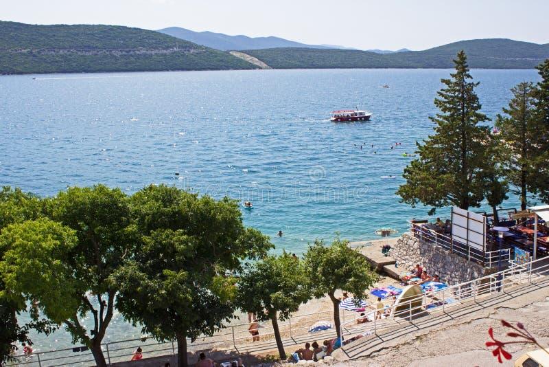 Praia de Neum fotos de stock royalty free