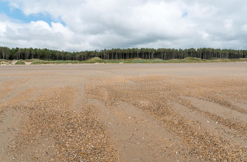 Praia de Newborough fotografia de stock royalty free