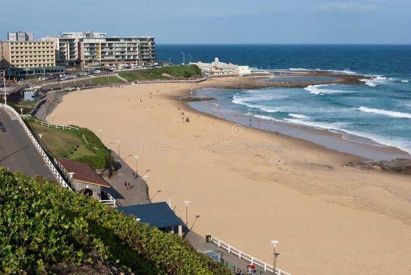 Praia de Newcastle, Austrália fotos de stock