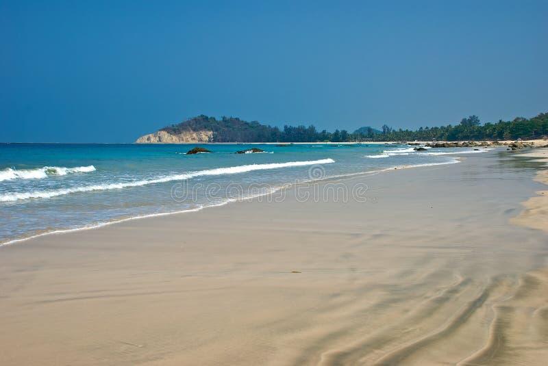 Praia de Ngapali imagens de stock royalty free