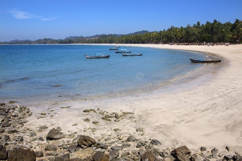 Praia de Ngapali - estado de Rakhine - Myanmar fotografia de stock royalty free